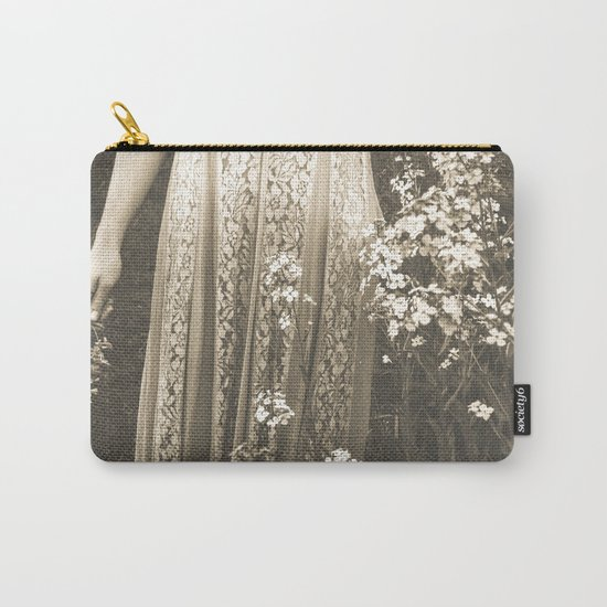 Flower Child 2 Black and White Carry-All Pouch