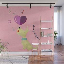 Valentine's Westie Dog in Love Wall Mural
