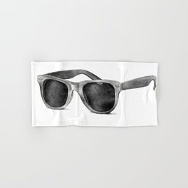 B&W Raybans - Drawing Hand & Bath Towel