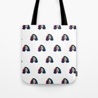 marina and the diamonds Tote Bags featuring Marina by Cannibal Malabar