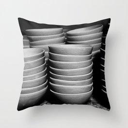 Pottery bowls Throw Pillow