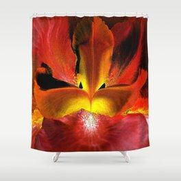 Fiery Center - Inverted Art Shower Curtain