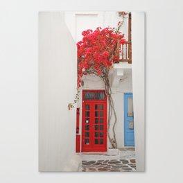 White Washed Mykonos Canvas Print
