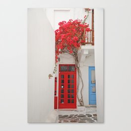 White Washed Mykonos Canvas Print
