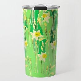Daffodils in green Travel Mug