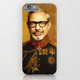 Jeff Goldblum Poster, Classical Painting, Regal art, General, Jurassic Park, Actor Print, Celebrity iPhone Case