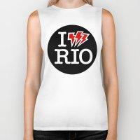 rio de janeiro Biker Tanks featuring I Shock RIO de Janeiro by Stir Tone