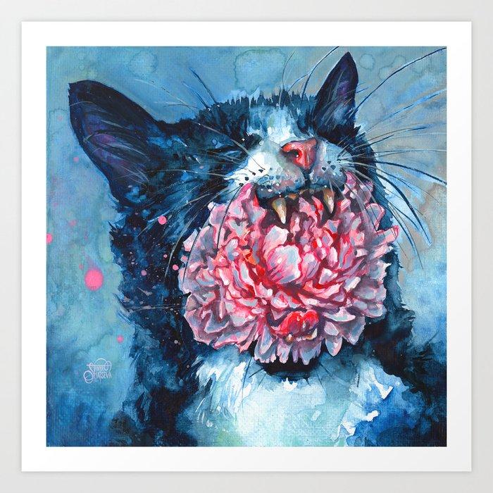 Yawn Art Print
