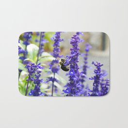 A bee and lavender Bath Mat