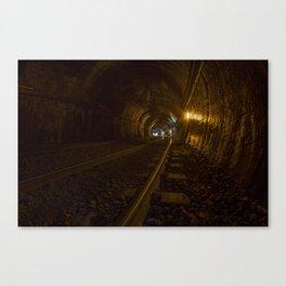 Active train tunnel Canvas Print