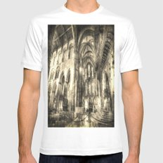 Rochester Cathedral Vintage White MEDIUM Mens Fitted Tee