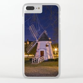 Yorktown Windmill at Night Clear iPhone Case