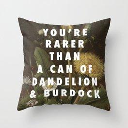 Rarer than LöwenzahnI Throw Pillow