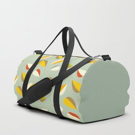 Mid Century Modern Graphic Leaves Pattern 1. Vintage green Duffle Bag