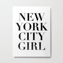 nyc girl Metal Print
