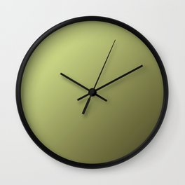 Yellow Green and Olive Green Gradient Wall Clock