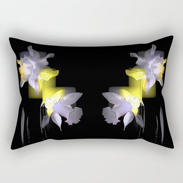 Cubist Daffodils Rectangular Pillow