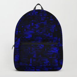 coming together darkly. blue Backpack