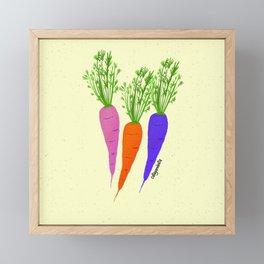 Zanahorias Framed Mini Art Print