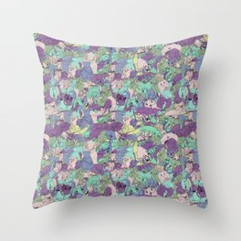 Crawlies party Throw Pillow