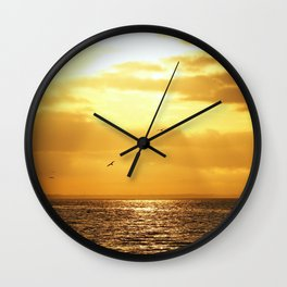 The Bay's Golden Hour Wall Clock