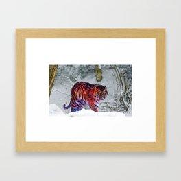 Galaxy Tiger Framed Art Print