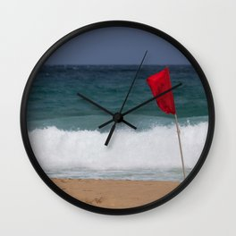 Red flag No Swimming Wall Clock