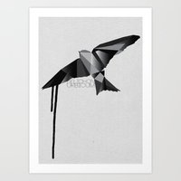 swallow Art Prints featuring Swallow by Molnár Roland