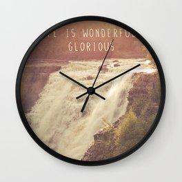wonderful waterfalls Wall Clock
