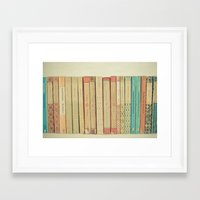 books Framed Art Prints featuring Books by Cassia Beck