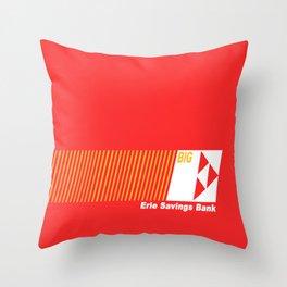 Erie Savings Bank (White) Throw Pillow