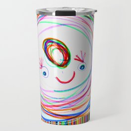 Be Happy | Smile | Stay Child | Kids Painting Travel Mug