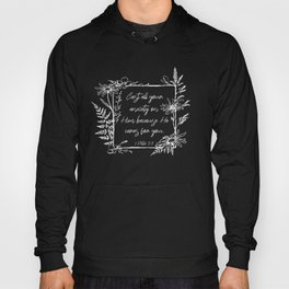Cast Your Anxiety Wildflower Frame Bible Verse Hoody