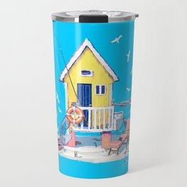 Fun in the Sun — Beach Hut Travel Mug