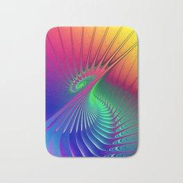 Outburst Spiral Fractal neon colored Bath Mat