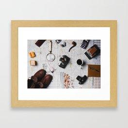 My Travels (Color) Framed Art Print