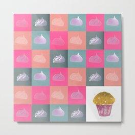 Meringue vs cupcake Metal Print