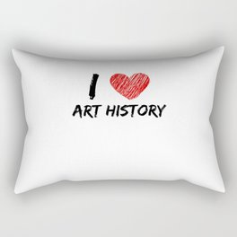 I Love Art History Rectangular Pillow