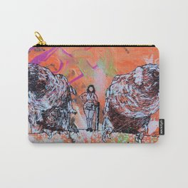 Two Parrots and a Woman Carry-All Pouch