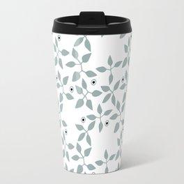 Leaves and Circle patterns Travel Mug