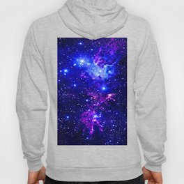 Fox Fur Nebula Galaxy blue purple Hoody
