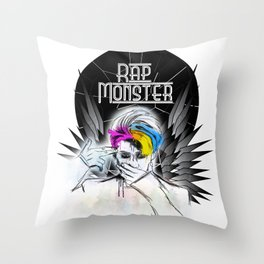 Rap Monster (Wings) Throw Pillow
