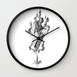 Black Flame Candle NOODDOOD Wall Clock