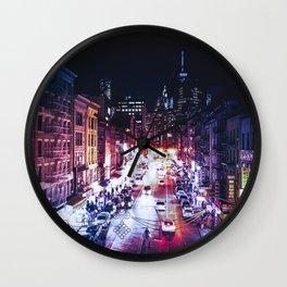 NYC Night Wall Clock