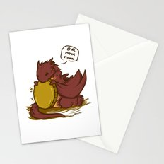 Chibi Smaug the Dragon Om nom nom Stationery Cards