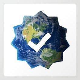 Verified Earth Art Print