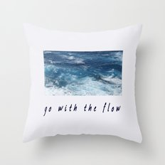 Oahu: Go With The Flow Throw Pillow
