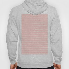 Simple Rose Pink Stripes Design Hoody