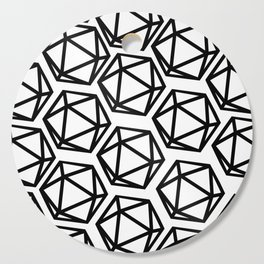 D20 Pattern Large Cutting Board