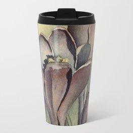 Purple Crocus Flowers in the Spring Travel Mug